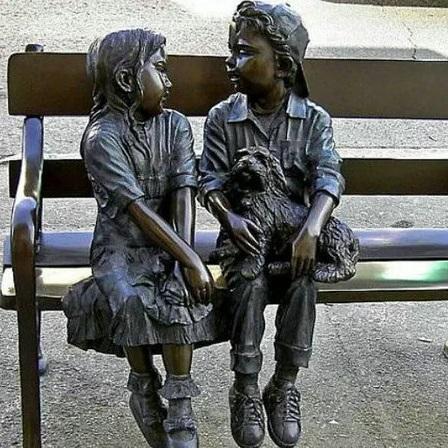 玻璃钢人物雕塑zx334