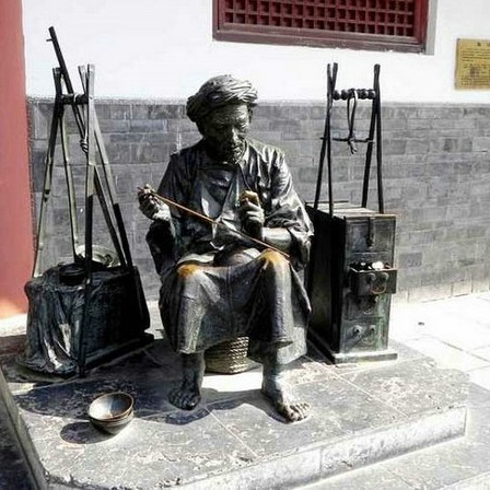 玻璃钢人物雕塑zx339