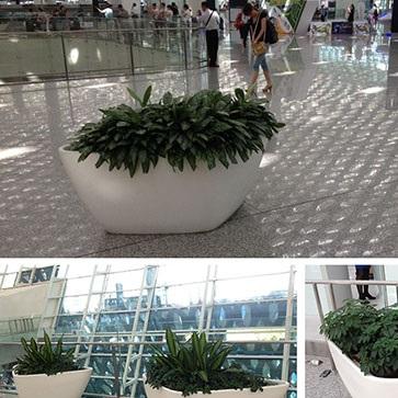 玻璃钢室内花盆HP003