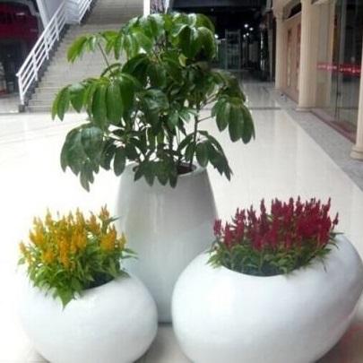玻璃钢室外花盆HP104