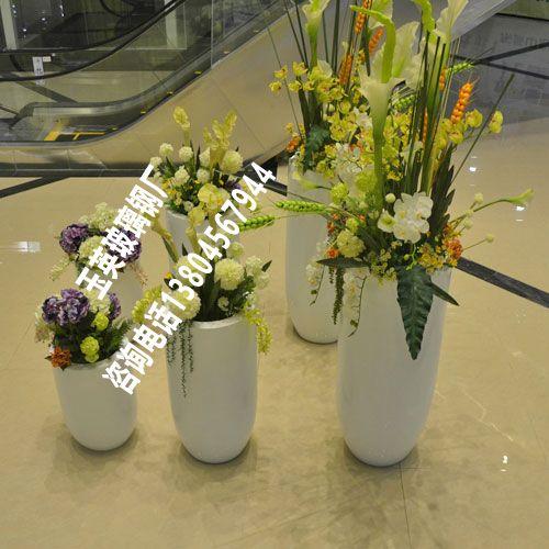 哈尔滨购物中心玻璃钢组合装饰花瓶